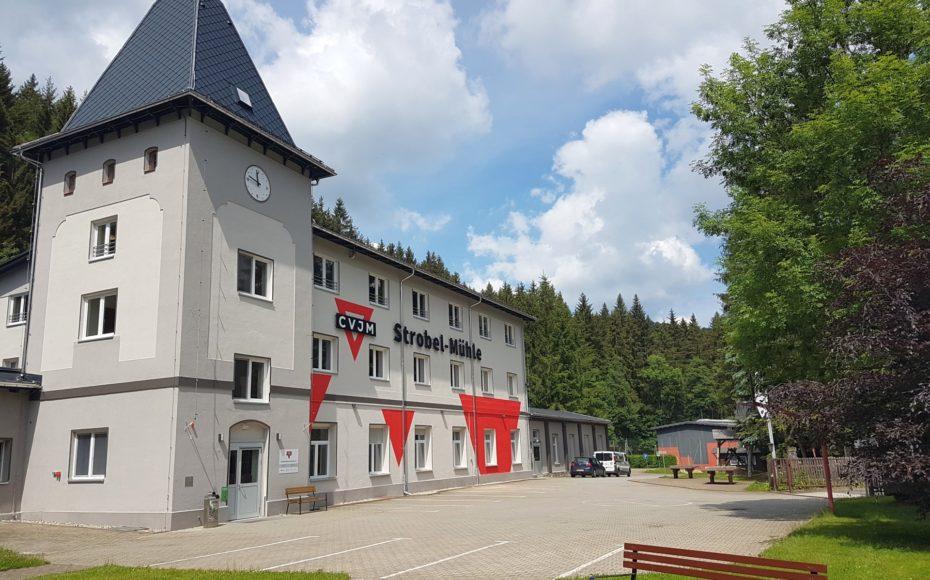 Außenansicht Strobel-Mühle 2018 neu gestaltet