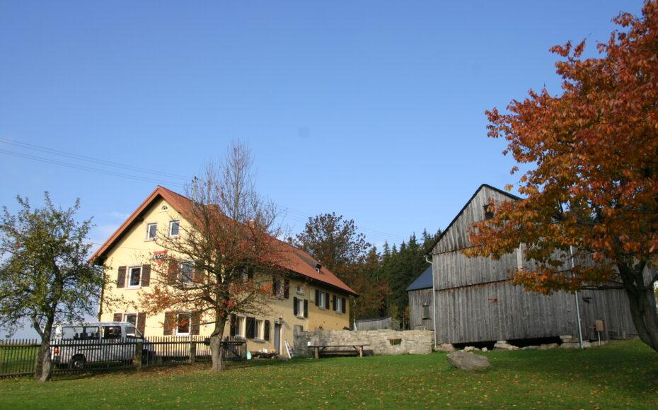 Ansicht Gelände und Haus