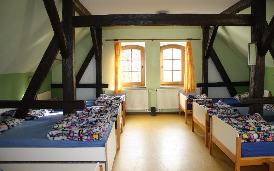 9-Bett-Zimmer im Übernachtungshaus Jugendscheune