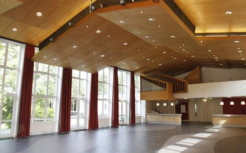 Der Saal bietet bis zu 200 Personen Platz